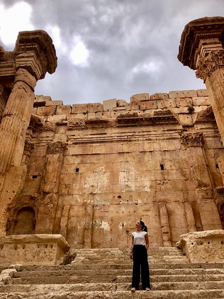 Temple of Bacchus, Baalbek Lebanon