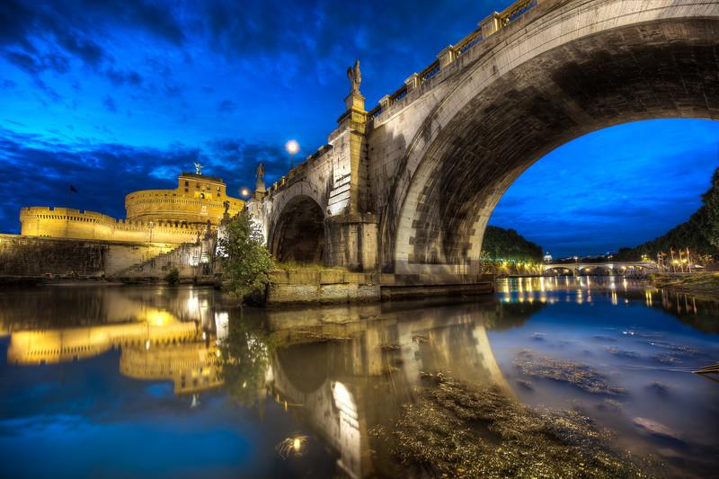 Under Ponte Sant'Angelo    Rome Italy