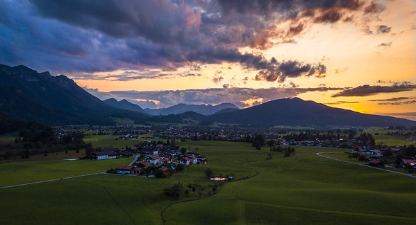 Sunset Over Breitmoos nr Inzell Germany