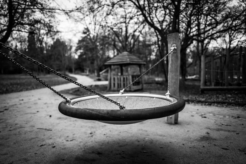 Empty playground attraction
