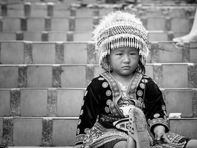 Sad girl at Wat Phra That Doi Suthep