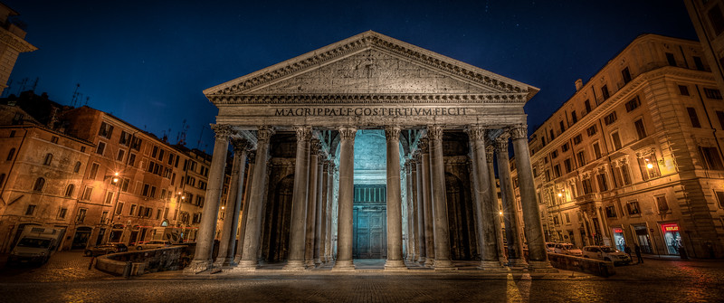 Pantheon in Rome at night