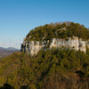 Pilot Mountain between Mt. Airy and Winston-Salem, N.C.