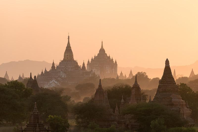 Temples In The Distance    Bagan Myanmar