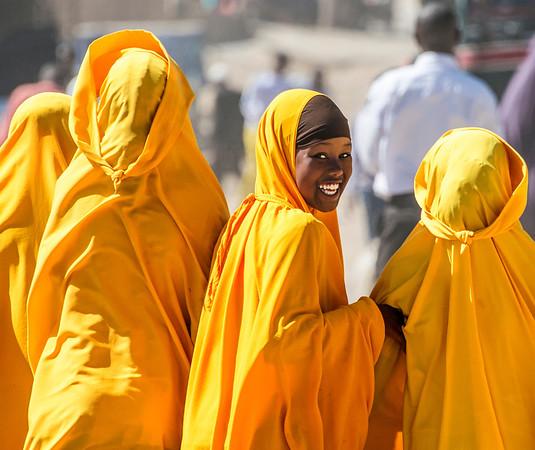Somali School Girls, Somaliland Ethiopian Border