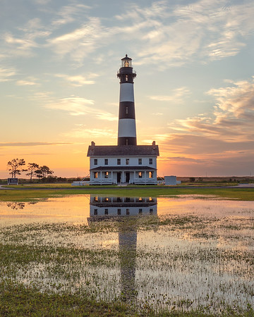 Bodie Island Lighthouse at sunrise