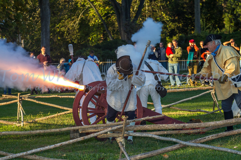 Canon fire in Williamsburg VA.