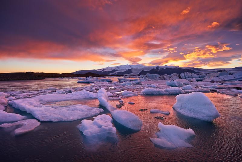 Burning Sky    Iceland