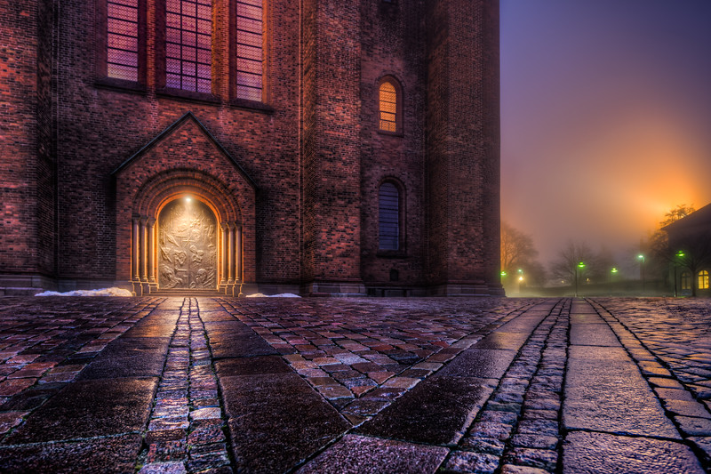 Roskilde Cathedral By Night