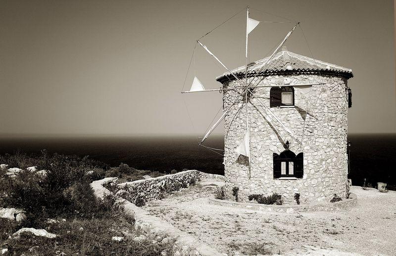 Windmill in Zakinthos..