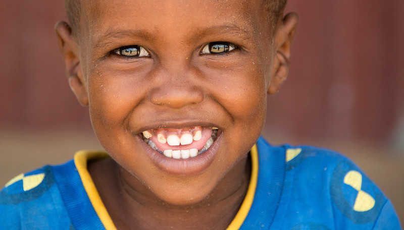 Portrait of a young Somali Boy