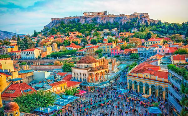 Acropolis from Monastiraki square