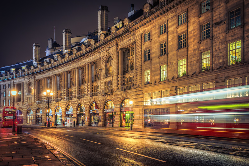 Regent Street with Busses