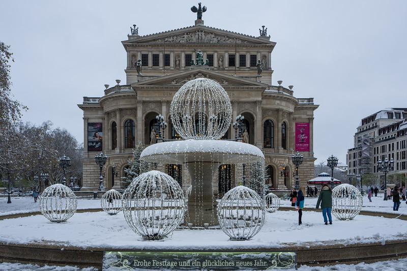Frankfurt, Germany - December 10: The Alte Oper (Old Opera) in Frankfurt on December 10, 2017 in Frankfurt, Germany