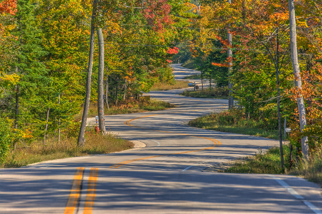 Road in Door County Wisconsin