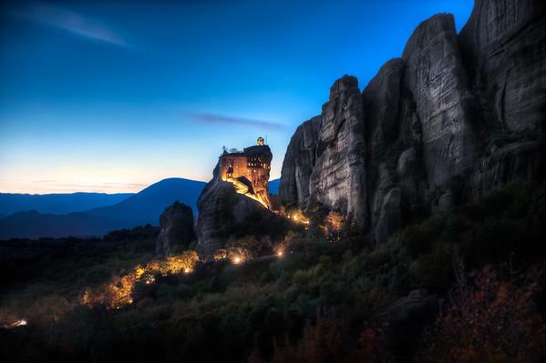 Twilight Monastery    Meteora Greece