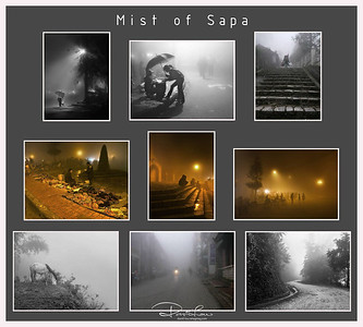 Mist of Sapa - There were mist and drizzle that can changed in a matter of minutes throughout the day in Sapa even in the month of June.   I wasn't quite hopeful of any good night shots due to the heavy fog but at the end, I was quite pleased with my overall results.