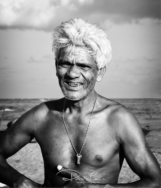 A fisherman in Sri Lanka