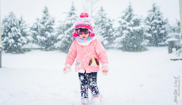 Pihu Enjoying in snow ... Atlanta 2020