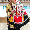Bridal couple in tradtional Abyaneh clothes