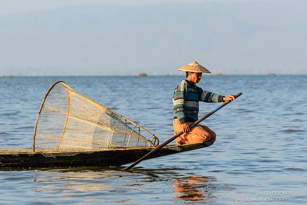 Fisherman at Ine Lake