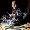 Burmese woman at work