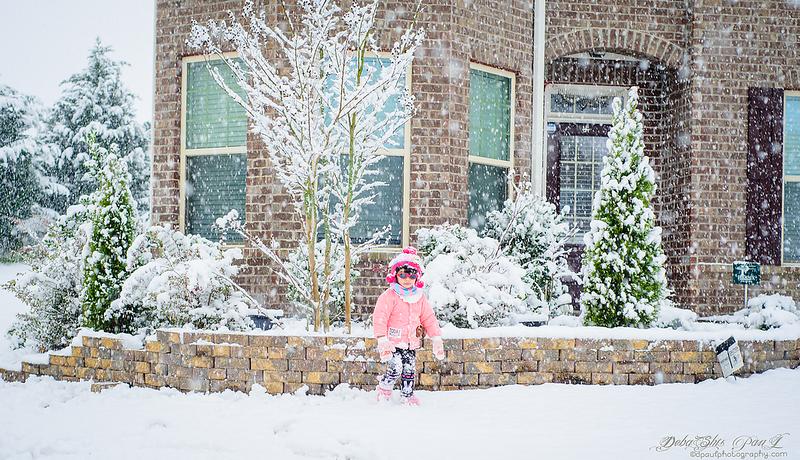 Pihu enjoying snowfall GA '2020