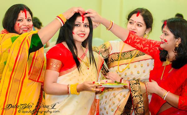 """Sindoor Khela"" (Vermilion play) - A Hindu ritual on Durga Goddess Puja..."