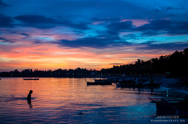 Sunset over Bantayan Island