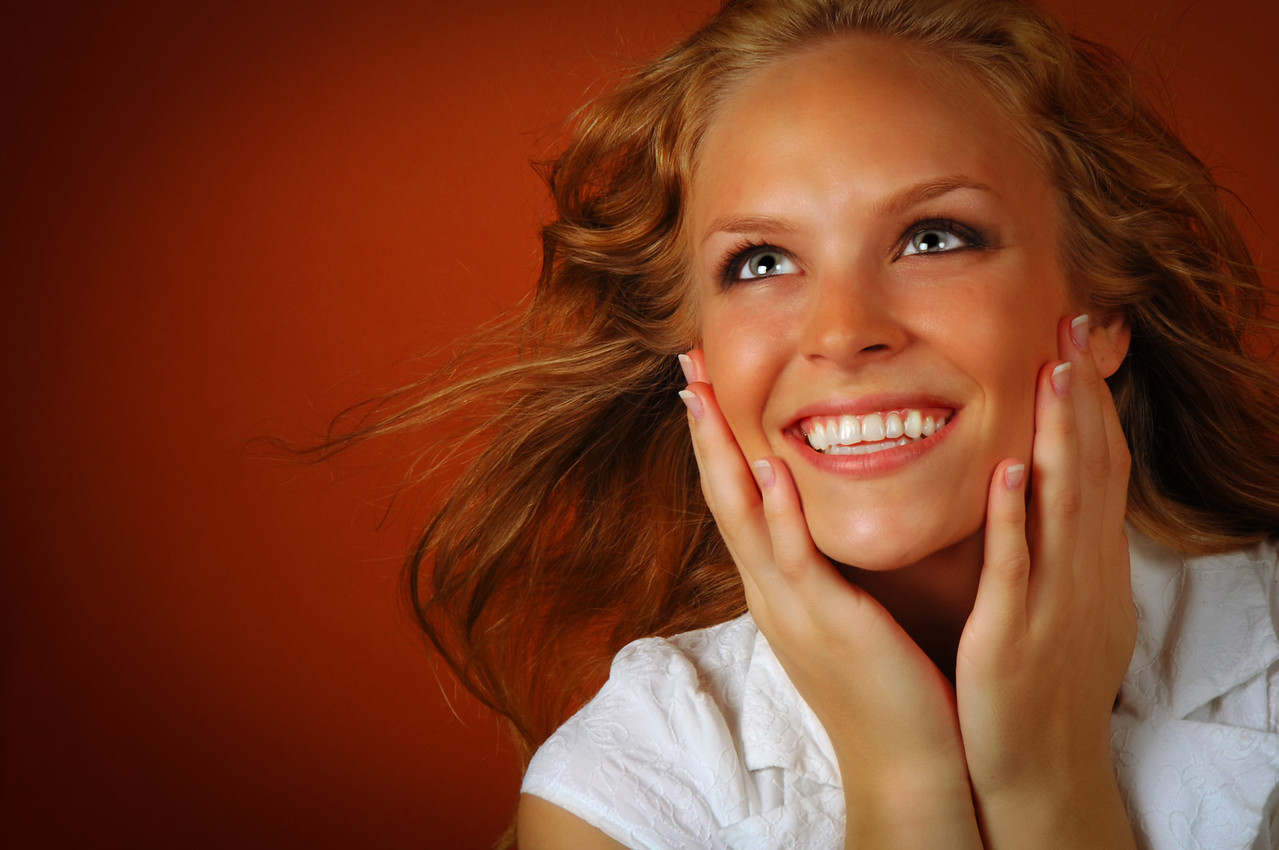 Young Girl Smile with Surprise