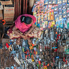 Burmese woman selling tools