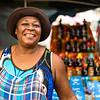 creole lady on a street food market