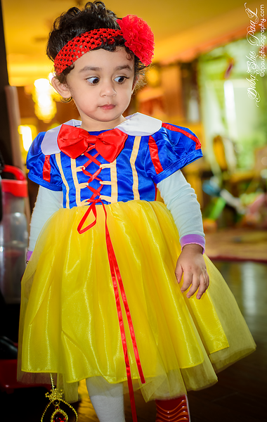 My little cutie Princess Snow White ready for candy collection @ Halloween Day 2018