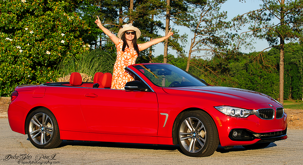 A special day outing with our Red on Red Bimmer :-)