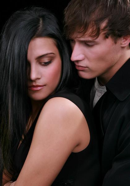 Young Couple Low Key Portrait