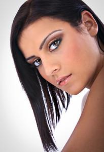 Beautiful Young Native American Female Model Portrait Closeup