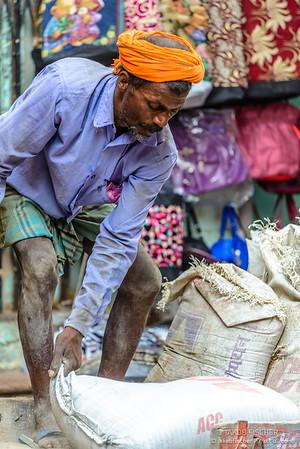 Indian laborer at work in Varanasi