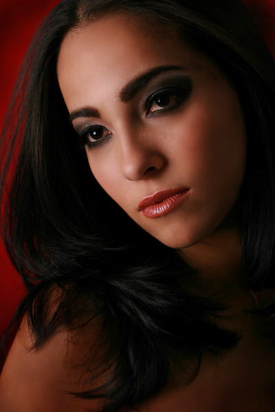Beautiful Female Low Key Portrait