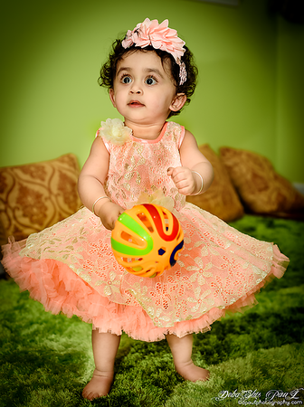 With all of the laughter, excitement, and joy surrounding you on your Big 1st birthday ... I can't imagine wanting to be anywhere else but here to celebrate with the most beautiful gift of God has ever put upon this Earth! Happy 1st Birthday to you my Princess Pihu on your special day! - Mamma and Papa