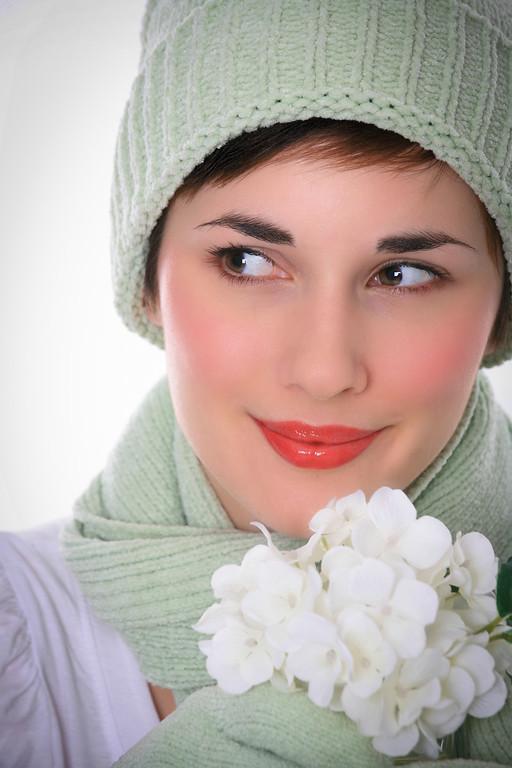 Beautiful Young Female Fashion Model Closeup