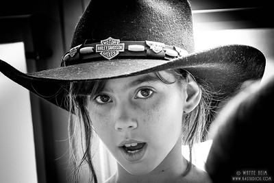 Cowgirl     Black & White Photography by  Wayne Heim