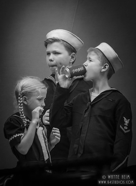 Young Sailors   black & White Photography by Wayne Heim