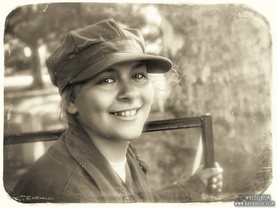 Young Reenactor   Black & white Photography by Wayne Heim