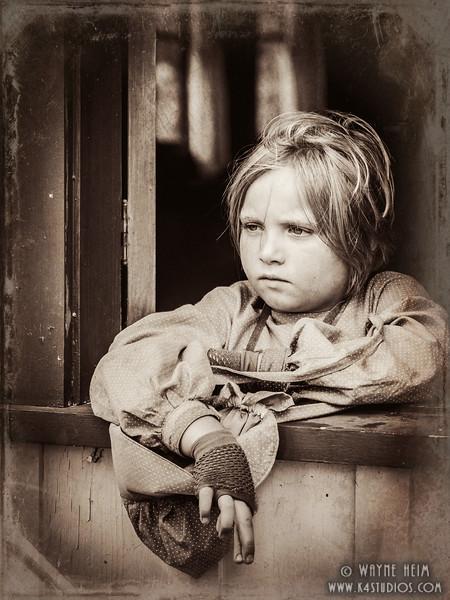 Young Reenactor  Photography by Wayne Heim