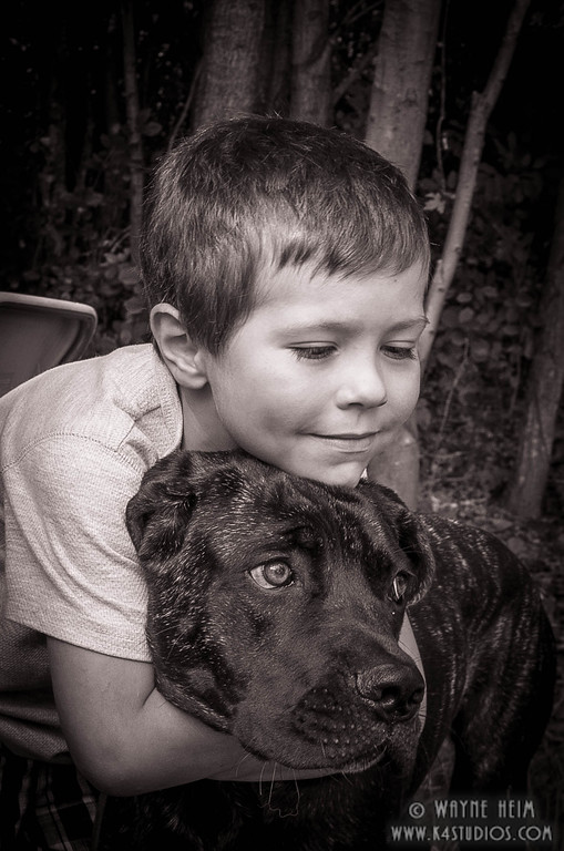 He is Mine - Black and White Photography by Wayne Heim