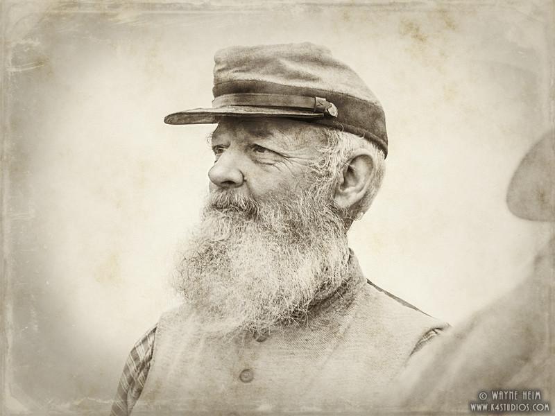 Civil War Soldier    Photography by Wayne Heim