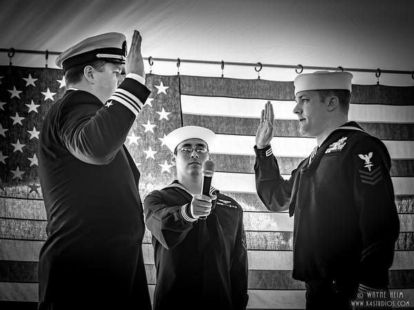 Swearing In   Black & White Photography by Wayne Heim