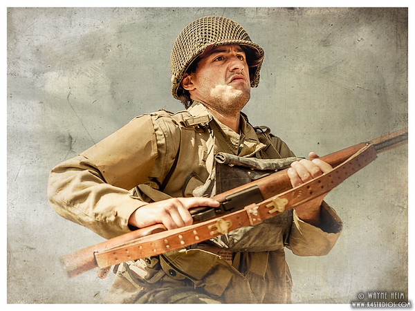 CHarging Soldier    Photography by Wayne Heim