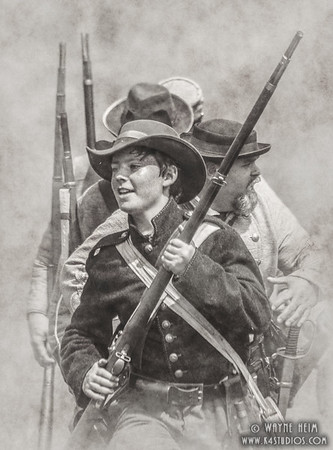 Young Union Soldier   Photography by Wayne Heim