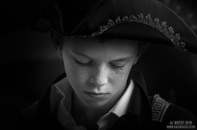 Portrait of Young Boy    Black & White Photography by Wayne Heim